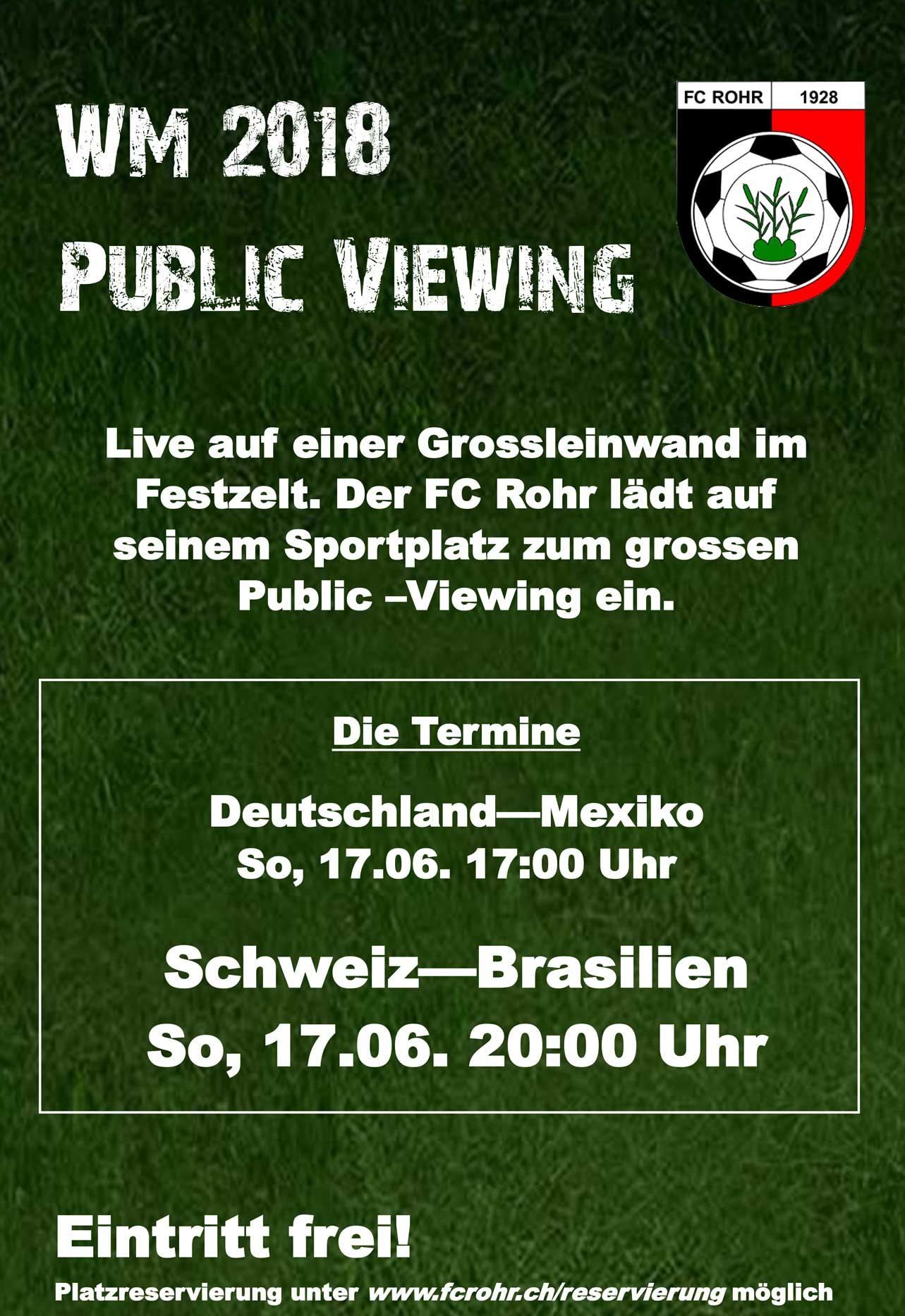 Public Viewing beim FC Rohr